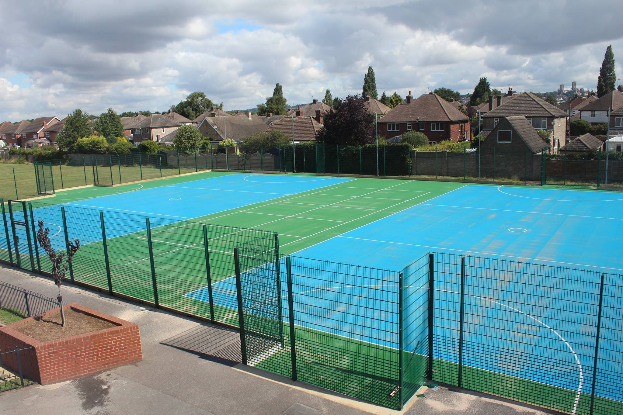 Multi use games area fitted by Bingham Ground Services.