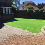 Lawns to fit around pre-existing features by Bingham Ground Services