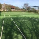 Tennis court installed by Bingham Ground Services